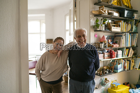 portrait of happy senior couple standing
