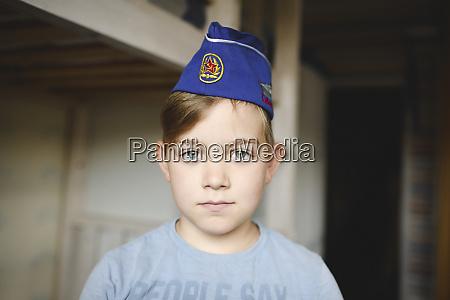 portrait of a boy wearing a
