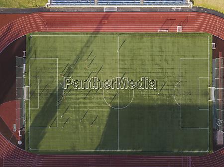 aerial view of soccer field tikhvin