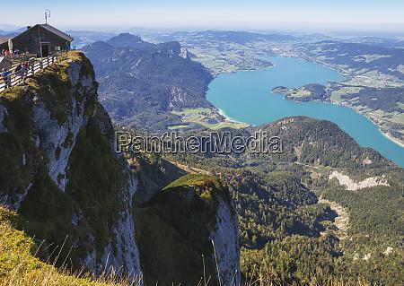 himmelspforte schafberg on mountain peak with