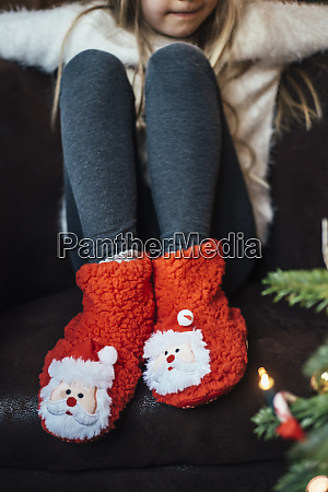 close up of girl wearing cozy