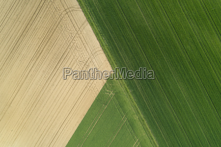 aerial view of agricultural fields franconia