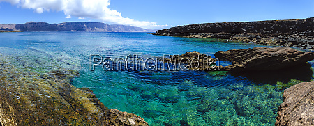 cliffs and sea in la graciosa