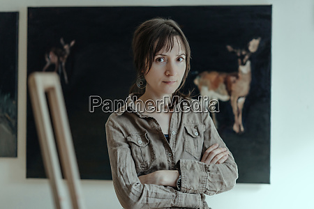 portrait of a female painter in