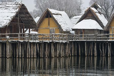 germany baden wurttemberg snow covered stilt