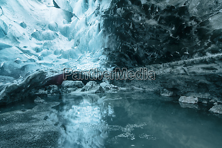 iceland south iceland ice cave in