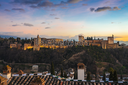 view of alhambra with sierra nevada
