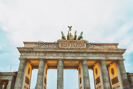 lighted brandenburger tor berlin germany