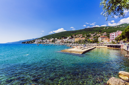 opatija town at adriatic sea coast