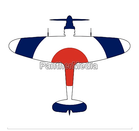 world war 2 fighter red white