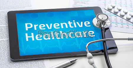the word preventive healthcare on the
