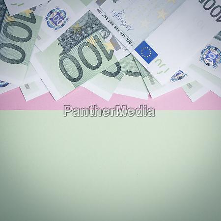 euro cash background euro money banknotes