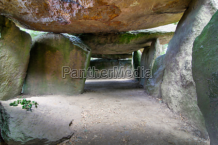 inside a prehistoric burial chamber or