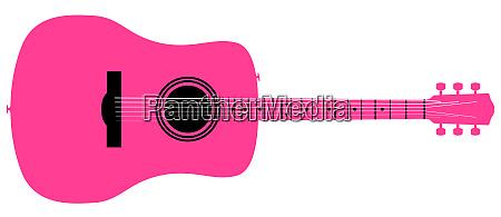pink acoustic guitar