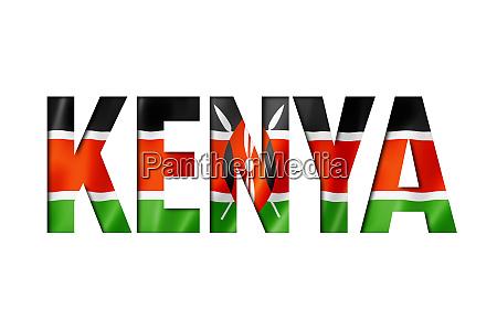 kenyan flag text font