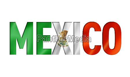 mexican flag text font