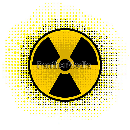 ionizing radiation sign radioactive contamination symbol