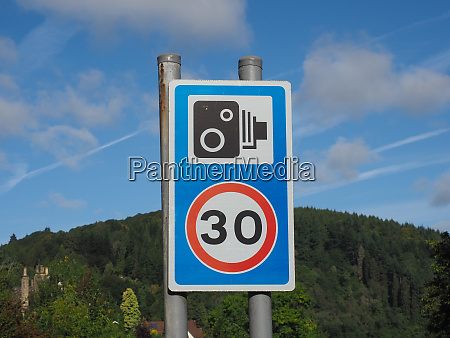 speed carmera sign