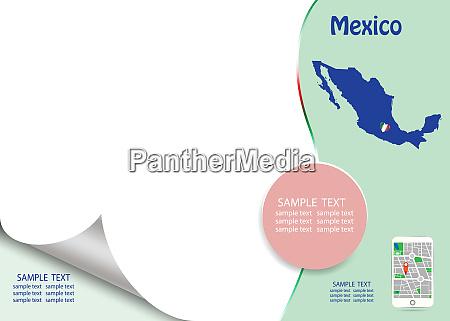 travel mexico template concept vector