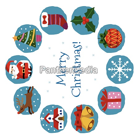 christmas card with santa claus christmas