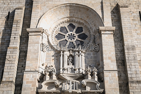 architectural detail of the porto cathedral