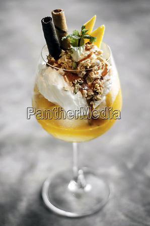 mango and passion fruit tropical ice
