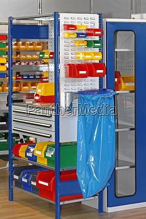 trays and bins storage