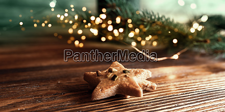 christmas still life with cookies and