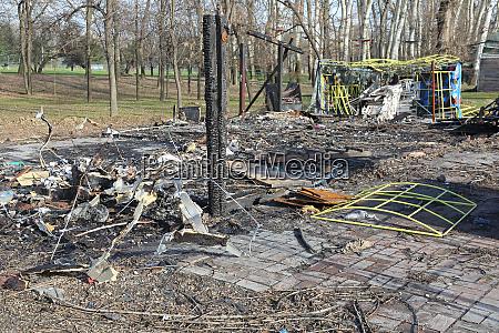 burned wood cabin