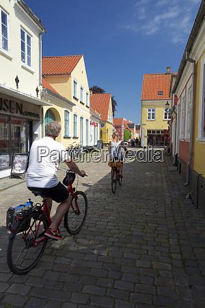 cycling in aeroskobing aero island funen