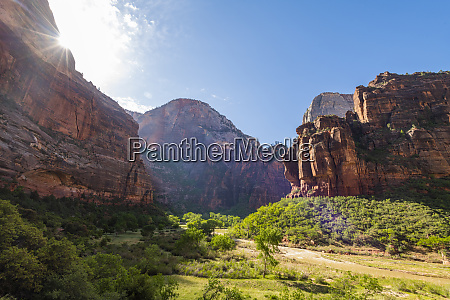 zion canyon zion national park utah