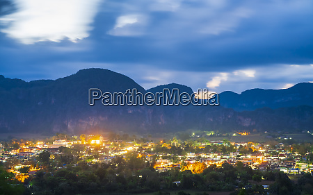 view of vinales valley at dusk