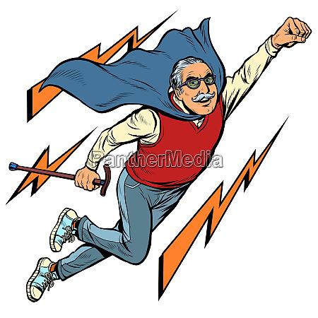 man retired superhero health and longevity