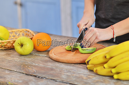 hands of young girl in sportswear