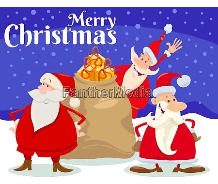 christmas card design with santa claus