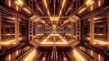 futuristic scifi glass tunnel with nice