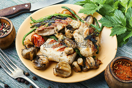 grilled steak and spices