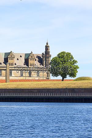 medieval kronborg castle on the oresund
