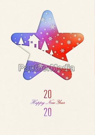 happy new year 2020 rainbow vintage