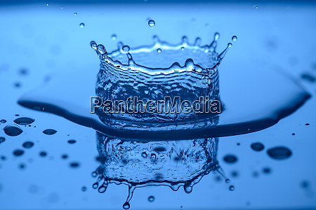 water splashes on glass on a