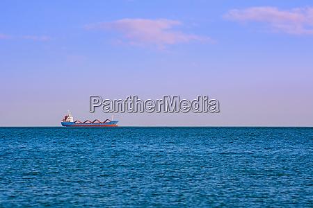 cargo ship in the sea