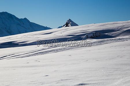 ski terrain below mont blanc