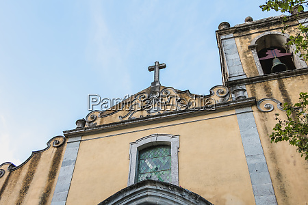 architectural detail of the church of