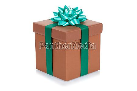 birthday gift christmas present brown box