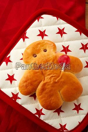 home baked mini stutenkerl with festive
