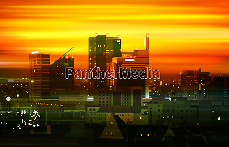 abstract brown background with panorama of
