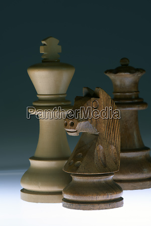 chess pieces close up
