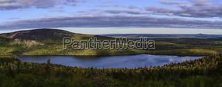 panorama of eagle lake in acadia