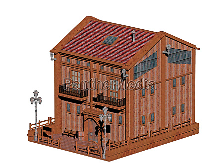 wooden house in the green older