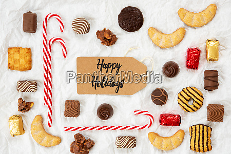 candy christmas collection label text happy